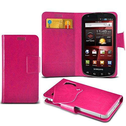 (Hot Pink) Samsung Droid Charge I510 Super dünne Kunstleder Saugnapf Wallet Case Hülle mit Credit / Debit Card SlotsBy ONX3
