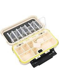 Bazaar Pesca caja de aparejos de pesca cajas de pesca con mosca señuelo del gancho cuadro de inserción extraíble