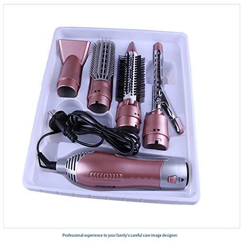 Sunshine Haartrockner Kamm Multifunktions-Haushalts-Haar-Gerades Haar-Kamm-Elektrischer Rollen-Stab-Haartrockner Haartrockner,Pink