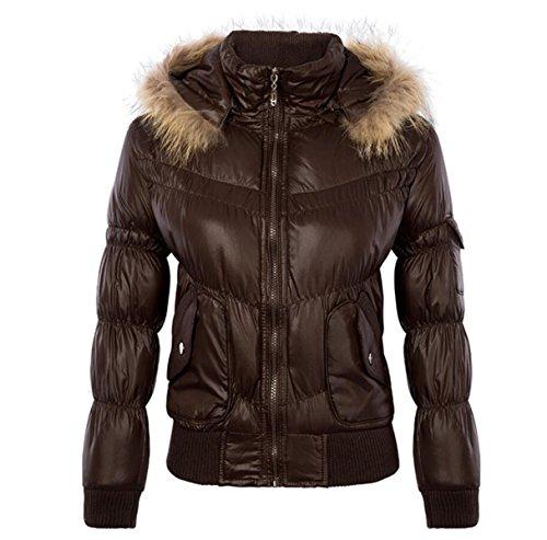 La Camicia Femminile Del CHENSH Ha Riempito L'inverno Del Paragrafo Del Cotone Riempito Del Cotone Long-sleeved Del Cotone Imbottito Di Cotone Brown