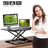 Best Adjustable Height Desks - 1home Sit-Stand Height Adjustable Desk Converter Standing up Review