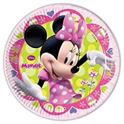 Minnie Mouse Party - Minnie Bow-tique Party Plates X 8