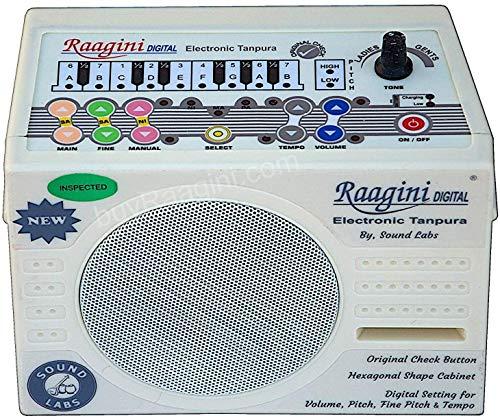 Elektronischer Tanpura Raagini von Sound Labs, Tanpura-Sampler, Bedienungsanleitung, Tasche, Netzkabel, Digitale Tambura/Tanpura-Box (PDI-DG)