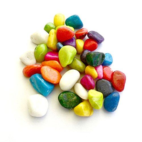 Gifts & Decor Stone Colourful Glass Pebbles, 400 g (Multicolour)