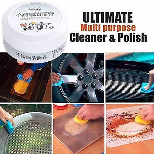 Upxiang Multifunktions Starke Dekontaminierung Reinigungscreme, Edelstahl Reparatur Werkzeug Reinigung Repair Tool Cream für Pflege von zu Hause Leder von Haushaltsgeräten Bürogeräten (A) - Schaum-leder-sattel