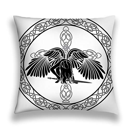zexuandiy Kissenbezüge Double Sided Square Pillowcase Cotton Throw Pillow Cushion Case Cover 18