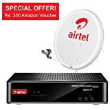 Airtel Digital TV HD+ with My Kids Pack with 350 Amazon Voucher (White)