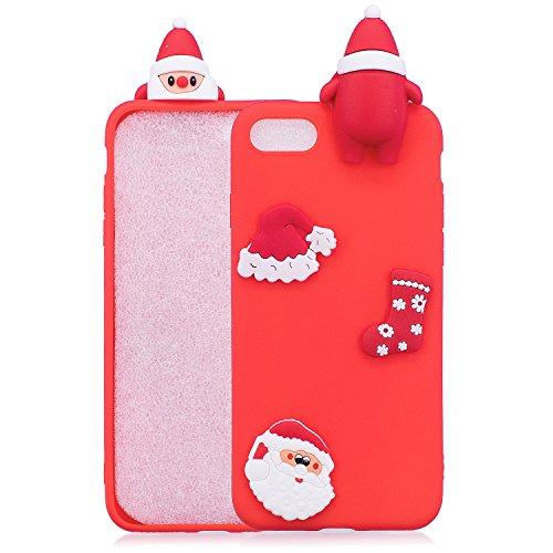 Cover iPhone 7 Spiritsun Case iPhone 8 Custodia Silicone Moda Ultraslim Soft TPU Case 3D Diy Handy Kawaii Christmas Cover Souple Flessibile Phone Case Per iPhone 7/8 (4.7 Pollici) - Cappello di Natale Cappello di Natale 1
