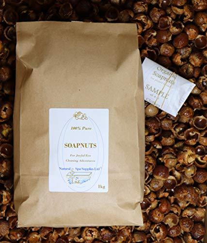 Natural Spa Supplies Ltd Soapnuts, frutos secos de jabón, bayas de jabón, nueces de lavado, orgánico con muestra para un amigo. Eco lavandería, lavado y limpiador de superficies. Sin plástico.