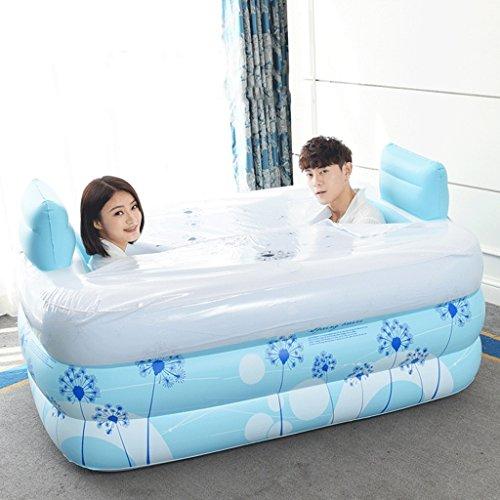 Baignoires Jacuzzis et balnéothérapie Maison moderne double baignoire gonflable baignoire pliante baignoire adulte baignoire plus épaissie baignoire spa isolée (bleu) (Color : #2)