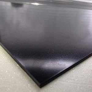 Noir lisse de 2 mm feuille d'ABS 1250 x 600 Acrylonitrile-butadiène-styrène