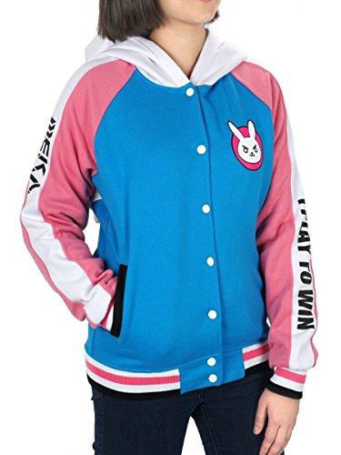 Overwatch D.Va College Jacke mit Kapuze, Größe: L