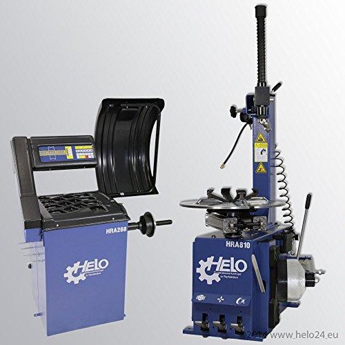 HELO Reifenmontiergerät HRA 810 + HELO Radauswuchtmaschine HRA 268