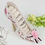 Shabby Chic Vintage Floral Shoe Shaped Ring Store – Ideal For A Dressing Room – H12 x L15 x W4cm