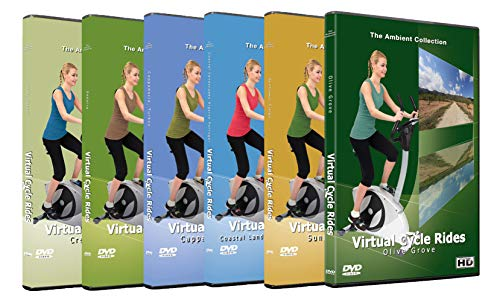 Preisvergleich Produktbild Virtuelle Fahrradfahrten DVD Kollektion - Das Beste aus der Natur Europas - Spezial Paket für Laufband Workouts