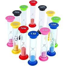 12pz Faburo clessidra sabbia timer per bambino giocare Home Decor cucina esercizio, Stock Size