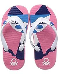 United Colors of Benetton Unisex Kid's Pink Flip-Flops-12 UK (31 EU) (17A8CFFPU160I)