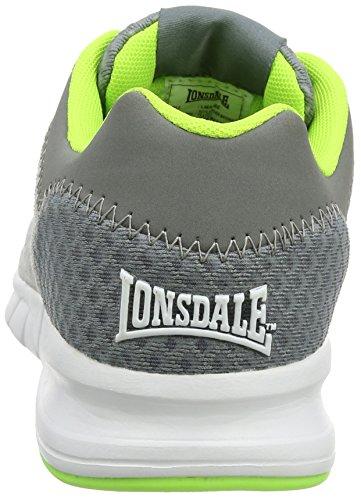 Lonsdale Tydro, Scarpe Sportive Outdoor Uomo Grigio (Grey/grey/lime)