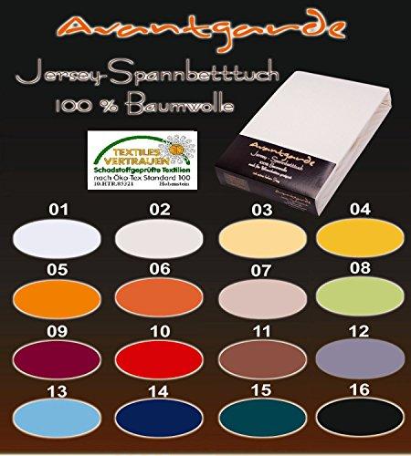 SPANNBETTLAKEN WASSERBETTEN BOXSPRINGBETTEN 180x200 bis 200x220 ca. 170gr Öko Tex Zertifikat Avantgarde 100% Baumwolle 19 Farben (02-natur)