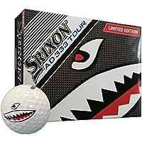 Srixon AD333 Tour Edición especial Bola de Golf - Shark Bite Logo - Modelo 2017 - 1 Docena - Nuevo - blanco