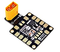 Matek PDB , Power Distribution Board ( BEC 5V&12V , with XT60 , 6 ESC Output ) for X or H Design FPV Racing RC Drone Quadcopter by LITEBEE