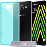 Coque Gel transparent Turquoise Samsung Galaxy A3 (2016) SM-A310F + Stylet + 3 Films OFFERTS
