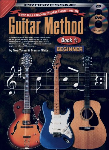 Guitar Method Book 1 Bk/CD/DVD [With CD/DVD] (Progressive) (Guitar Method Progressive)
