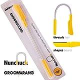 Groomarang Nunchuck depilazione Depilazione del viso per gli uomini - Epistick + lama di rasoio per lo stile della barba