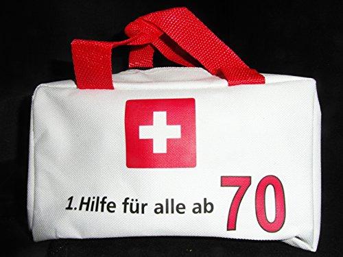 1 TASCHE 1. HILFE FÜR ALLE AB 70 GESCHENKARTIKEL 70. GEBURTSTAG DEKO ZUM BEFÜLLEN