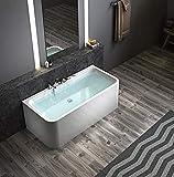 Exclusive freistehende Badewanne mit Armatur 170*78*62 an 3 Seiten geschlossen Acryl