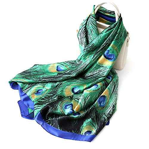 Hilai Badehose Bikini Badeanzug Cover up Beach Sarong Wrap SeidenSchal Pfauen grüne Farbe -