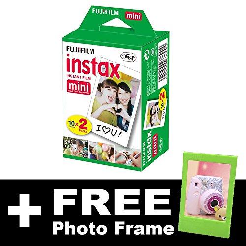 Fujifilm Instax Mini (20 disparos) Protector de pantalla + marco de fotos sin