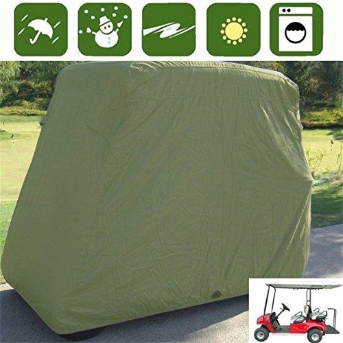 Golfwagen Schutzhülle, wasserdicht Staub Prävention Sunproof Material, passend für alle gängigen 4Passenger EZ Go, Club Auto und Yamaha Golf Carts, Taupe ()