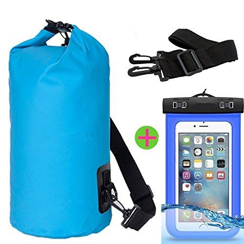 Borsa impermeabile, J2CC Drybag con guarnizioni e bandoliere, J2CC sacchetto impermeabile con sacchetto impermeabile della cassa del telefono (Fit iPhone 6 Plus, 6.5, S6, S5, Nota5, nota 4 e pišŽ)