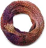 styleBREAKER coloré tube de boucle de grosse maille de haute qualité écharpe en qualité doux et moelleux, multicolore, unisexe 01018127, couleur:multicolore/modèle-10