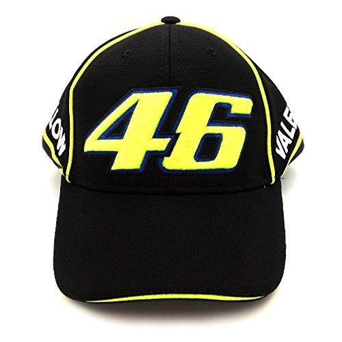 Valentino Rossi VR46 Moto GP 46 Logo Negro Gorra Oficial
