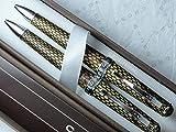Croix Executive compagnon véritable Textures et souple italien du désert Diamant cuir Cuir Stylo et Lot de crayons. Imagine un stylo en cuir Ensemble de crayon de stable.