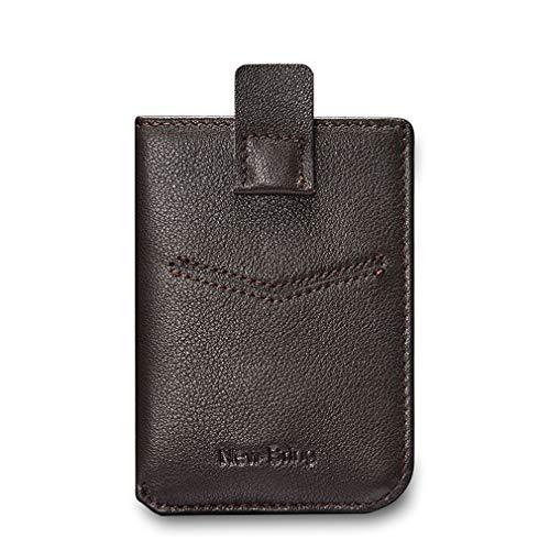 Ultradünne Starke magnetische Brieftasche Herren Leder Tasche Kreditkarte Tasche einfache kleine Karte Tasche Clip einfach, minimalistischeziehen mit Geld-Clip - Haut Magnetische Geld Clip