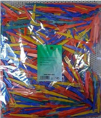Preisvergleich Produktbild Kunststoff - Plastik Pommesgabeln Essbesteck 2000 Stück