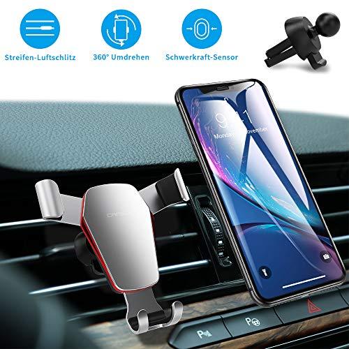 Handyhalterung Auto Handyhalter fürs Auto Lüftung Smartphone Universale Handy KFZ Halterungen Phone Halter Schwerkraft Auto Handyhalterung 360° Drehbar 4,5-6,5 Zoll, für Phone, Samsung, Huawei, LG