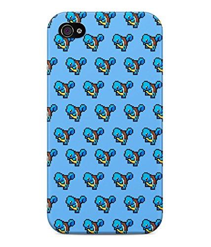8 Bit Pixel Pokemon Squirtle Wartortle Blastoise Pattern Hard Plastic Snap On Back Case Cover For iPhone 4 / 4s Custodia