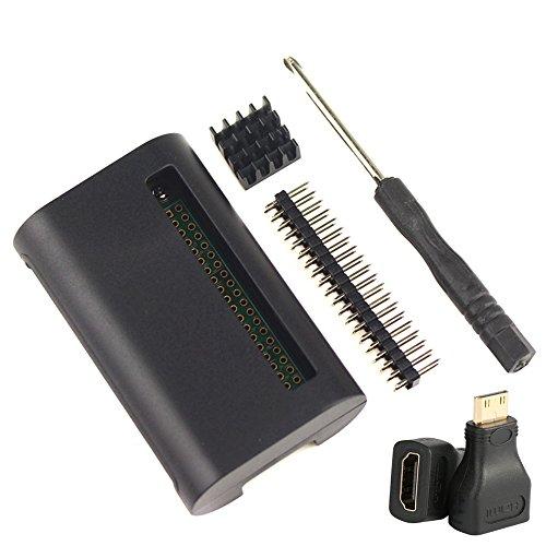Hdmi-kühlkörper (For Raspberry Pi zero W Wireless Kit Gehäuse Pin Header HDMI Adapter Kühlkörper)