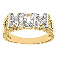 Citerna 9 ct Yellow Gold Stone Set Mum Fancy Ring - Size H