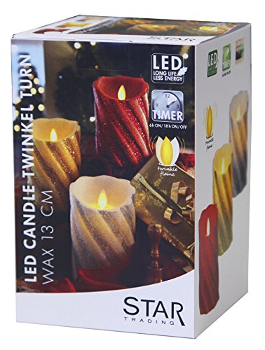 Star vela de cera LED