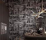 ZYLBDNB Personnalité Murale, Fond D'écran Industriel Géométrique Papier Peint Abstrait Heavy Metal 3D Bar Café Restaurant 3D Wallpaper,250X200CM