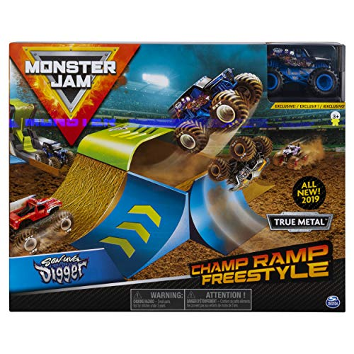 Monster Jam 6053296 Monster Jam-6053296-Original Champ Ramp Freestyle Spielset, Maßstab 1:64, Multicolour - Monster Jam Kinder