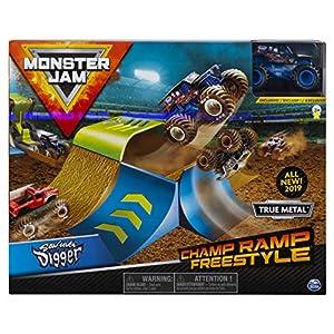 Monster Jam- Monster Jam-6053296-Original Spielset, Maßstab 6053296 Champ Ramp Freestyle-Juego de Mesa (Escala 1:64), Multicolor (Spin Master 20103382-6053296)