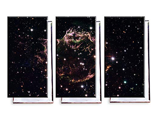 Unified Distribution Supernova - Cassiopeia - Dreiteiler (120x80 cm) - Bilder & Kunstdrucke fertig auf Leinwand aufgespannt und in erstklassiger Druckqualität
