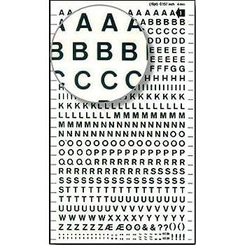 APLI Lettres Transferts (1 Feuille) DDB1F 4 mm Blanc