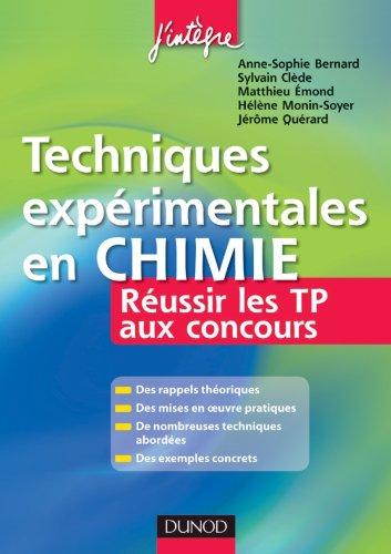 Techniques expérimentales en Chimie - R...